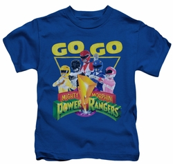 Power Rangers kids t-shirt Go Go royal blue