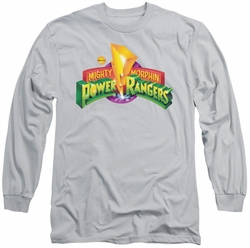 Power Rangers long-sleeved shirt MMPR Logo silver