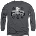 Power Rangers long-sleeved shirt Power Coins charcoal