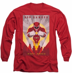 Power Rangers long-sleeved shirt Red Deco red