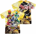 Power Rangers mens full sublimation t-shirt Charged For Battle