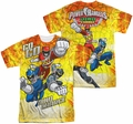Power Rangers mens full sublimation t-shirt Go Go Dino Charge