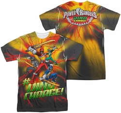 Power Rangers mens full sublimation t-shirt Hashtag