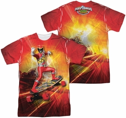 Power Rangers mens full sublimation t-shirt Skater