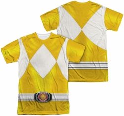 Power Rangers mens full sublimation t-shirt Yellow Ranger