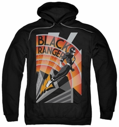 Power Rangers pull-over hoodie Black Ranger Deco adult black
