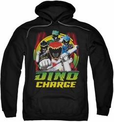 Power Rangers pull-over hoodie Dino Lightning adult black
