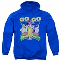 Power Rangers pull-over hoodie Go Go adult royal blue