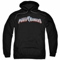 Power Rangers pull-over hoodie New Logo adult black