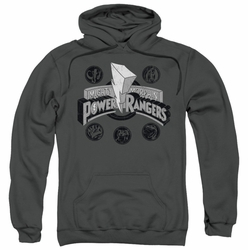 Power Rangers pull-over hoodie Power Coins adult charcoal