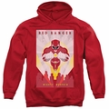 Power Rangers pull-over hoodie Red Deco adult red