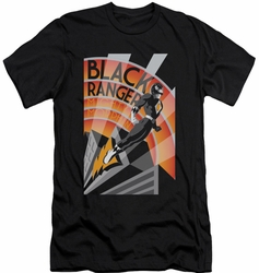 Power Rangers slim-fit t-shirt Black Ranger Deco mens black