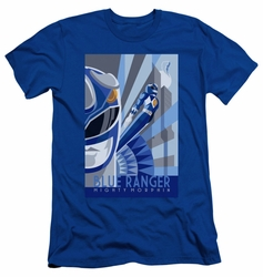 Power Rangers slim-fit t-shirt Blue Ranger Deco mens royal blue