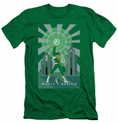 Power Rangers slim-fit t-shirt Green Ranger Deco mens kelly green