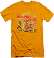 Power Rangers slim-fit t-shirt Morphin Time mens gold