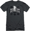 Power Rangers slim-fit t-shirt Power Coins mens charcoal