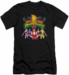 Power Rangers slim-fit t-shirt Rangers Unite mens black