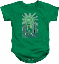 Power Rangers snapsuit Green Ranger Deco kelly green
