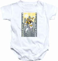 Power Rangers snapsuit White Ranger Deco white