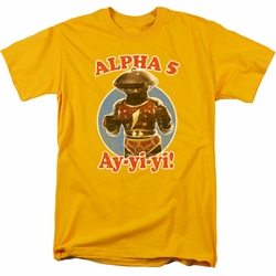 Power Rangers t-shirt Alpha 5 mens gold