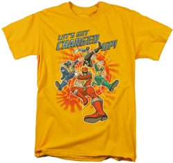Power Rangers t-shirt Charged Up mens gold