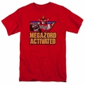 Power Rangers t-shirt Megazord Activated mens red