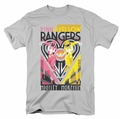 Power Rangers t-shirt Pink & Yellow Deco mens silver