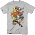 Power Rangers t-shirt Swords Out mens silver