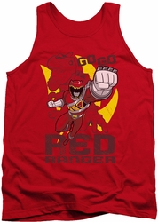 Power Rangers tank top Go Red mens red