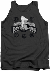 Power Rangers tank top Power Coins mens charcoal