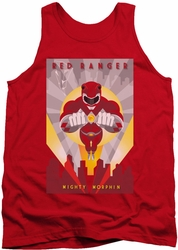 Power Rangers tank top Red Deco adult red