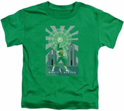 Power Rangers toddler t-shirt Green Ranger Deco kelly green