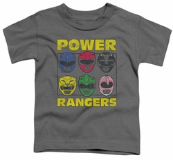 Power Rangers toddler t-shirt Ranger Heads charcoal