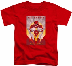 Power Rangers toddler t-shirt Red Deco red