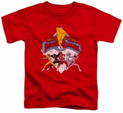 Power Rangers toddler t-shirt Retro Rangers red