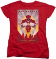 Power Rangers womens t-shirt Red Deco red