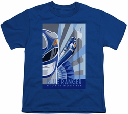 Power Rangers youth teen t-shirt Blue Ranger Deco royal blue