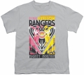 Power Rangers youth teen t-shirt Pink & Yellow Deco silver