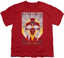 Power Rangers youth teen t-shirt Red Deco red