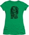 Predator juniors t-shirt What Are You kelly green