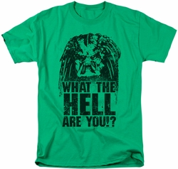Predator t-shirt What Are You mens kelly green