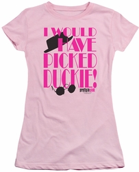 Pretty In Pink juniors t-shirt Picked Duckie pink