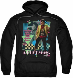 Pretty In Pink pull-over hoodie A Duckman adult black