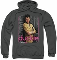 Pretty In Pink pull-over hoodie Just Duckie adult charcoal