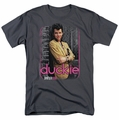 Pretty In Pink t-shirt Just Duckie mens charcoal