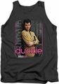 Pretty In Pink tank top Just Duckie mens charcoal