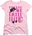 Pretty In Pink womens t-shirt Picked Duckie pink