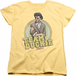 Pretty In Pink womens t-shirt Team Duckie banana
