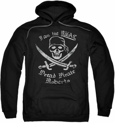 Princess Bride pull-over hoodie The Real Dread Pirate Roberts adult black