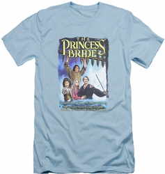 Princess Bride slim-fit t-shirt Alt Poster mens light blue